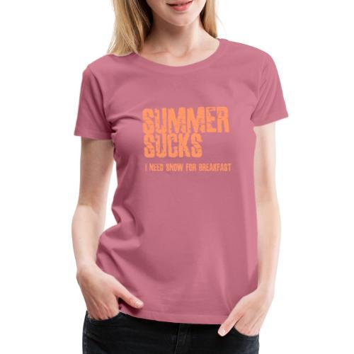 SUMMER SUCKS - Vrouwen Premium T-shirt