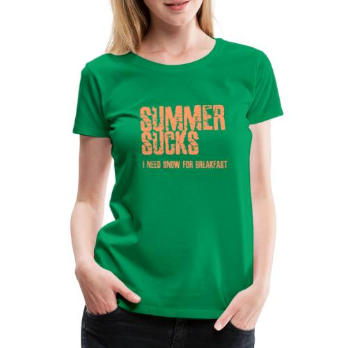 SUMMER SUCKS - Vrouwen Premium T-shirt