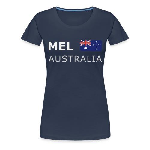 MEL AUSTRALIA white-lettered 400 dpi - Women's Premium T-Shirt