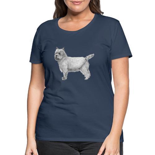 cairn terrier - Dame premium T-shirt