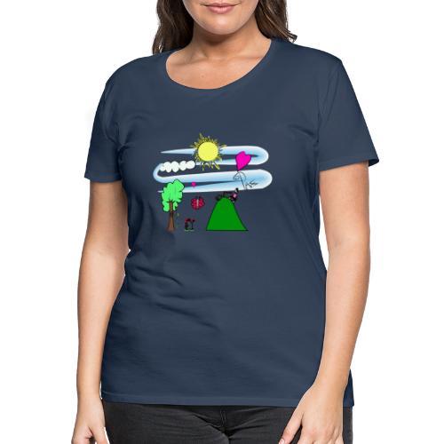 Paz en la Montaña - Camiseta premium mujer