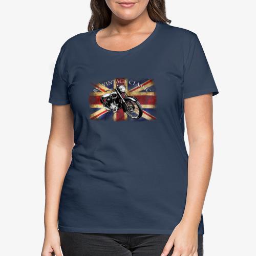 Vintage famous Brittish BSA motorcycle icon - Women's Premium T-Shirt