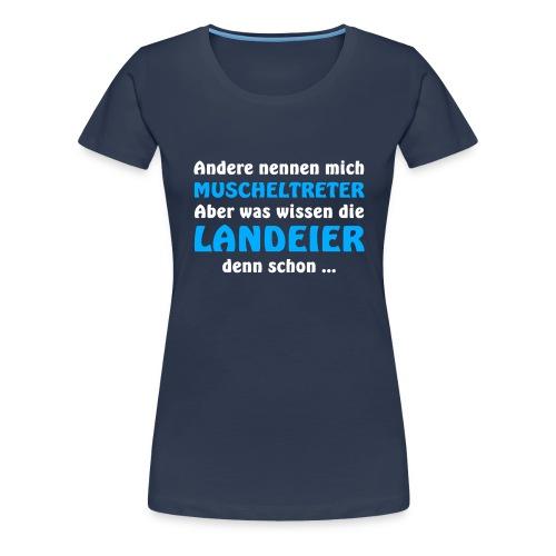 Rüganer vs. Landeier - Frauen Premium T-Shirt