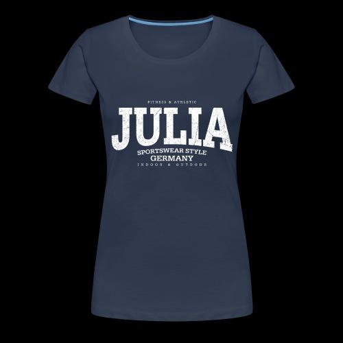 Julia (white oldstyle) - Frauen Premium T-Shirt
