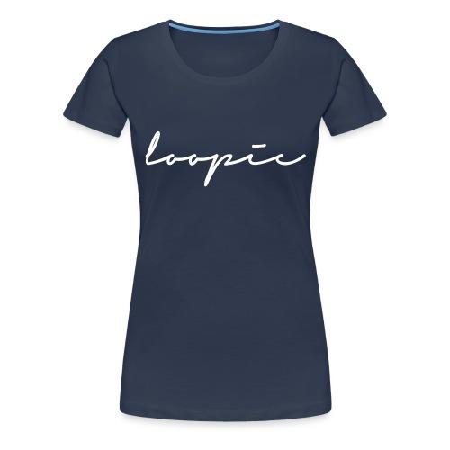 Loopie_logo_WHITE - Women's Premium T-Shirt