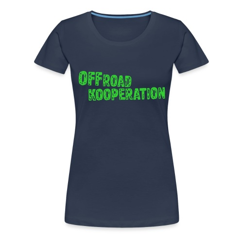 offroad kooperation green - Frauen Premium T-Shirt