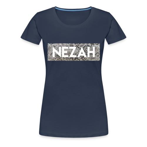 Nezah Snake Skin Box Logo - Women's Premium T-Shirt