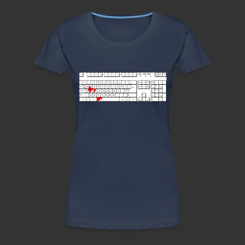 Bluttastatur - Frauen Premium T-Shirt