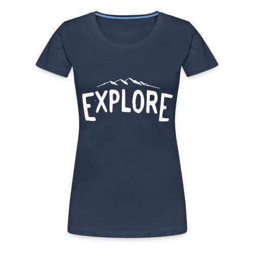 explore white png - Maglietta Premium da donna