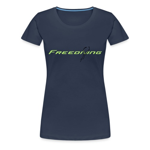 Freediving - Frauen Premium T-Shirt