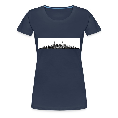 Berlin City Skyline - Frauen Premium T-Shirt