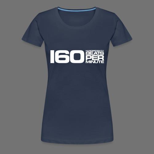 160 BPM (hvid lang) - Dame premium T-shirt