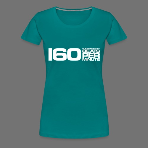 160 BPM (white long) - Women's Premium T-Shirt