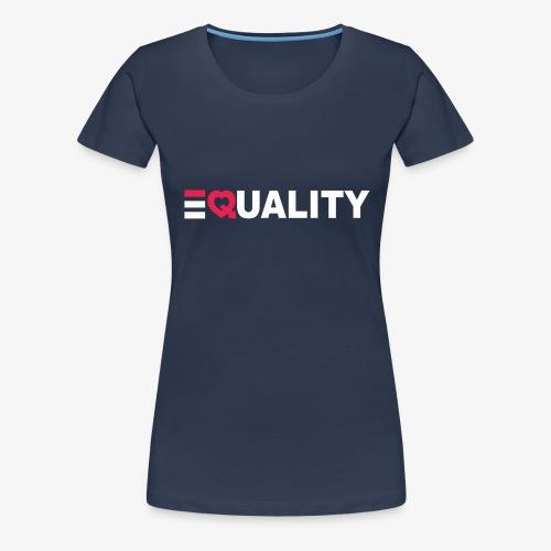 EQUALITY WIT - Vrouwen Premium T-shirt