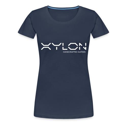 Xylon Handcrafted Guitars (name only logo white) - Women's Premium T-Shirt