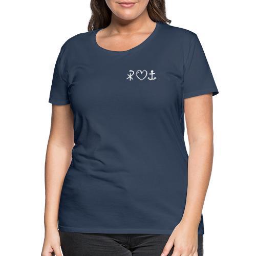 glaubeliebehoffnung_sw - Frauen Premium T-Shirt