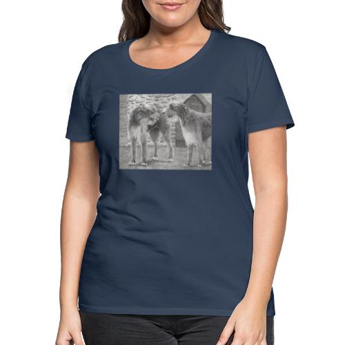 Irish Wolf hound - Dame premium T-shirt