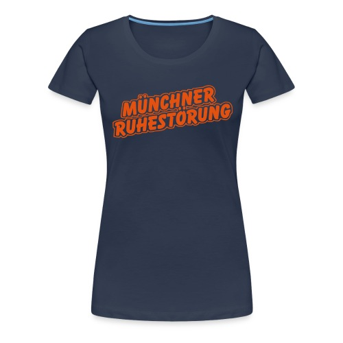 schrift lila - Frauen Premium T-Shirt