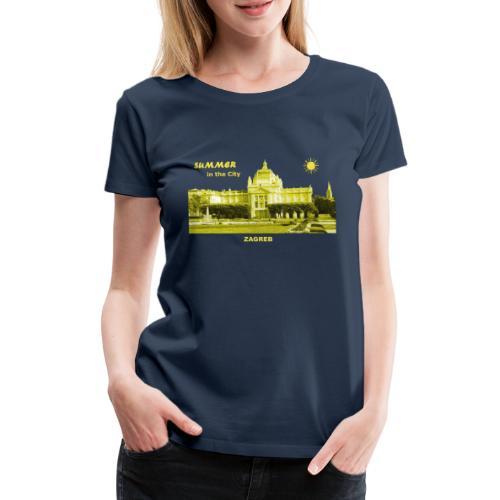 Sommer Zagreb Kroatien Istrien Nationaltheater - Frauen Premium T-Shirt