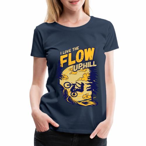 E_MTB_FLOW_UPHILL_NEW - Frauen Premium T-Shirt