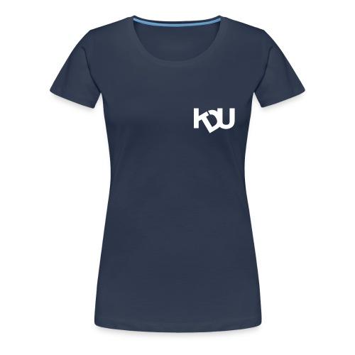 kdu vit - Premium-T-shirt dam