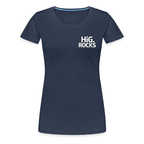 hig rocks Schriftzug - Frauen Premium T-Shirt