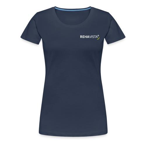 rehavista-logo-weiss-grue - Frauen Premium T-Shirt