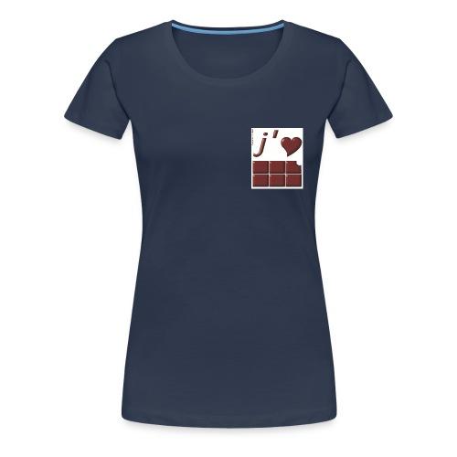 J aime le Chocolat - T-shirt Premium Femme