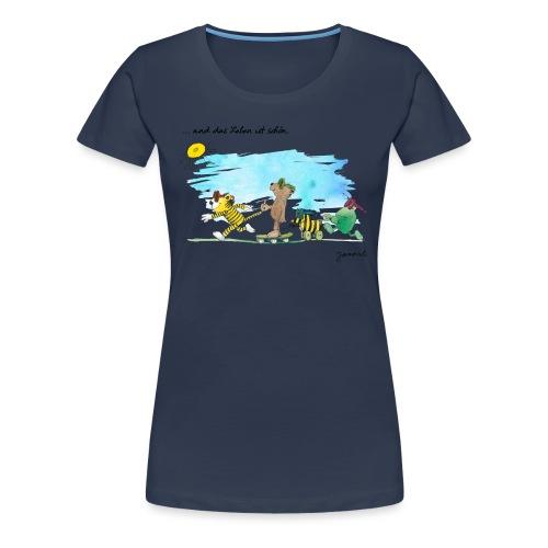 Janosch Tiger Und Freunde Das Leben Ist Schön - Frauen Premium T-Shirt