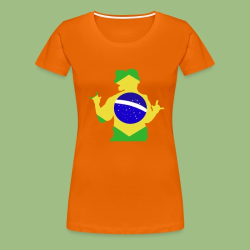 Ronaldinho Brazil - Premium-T-shirt dam
