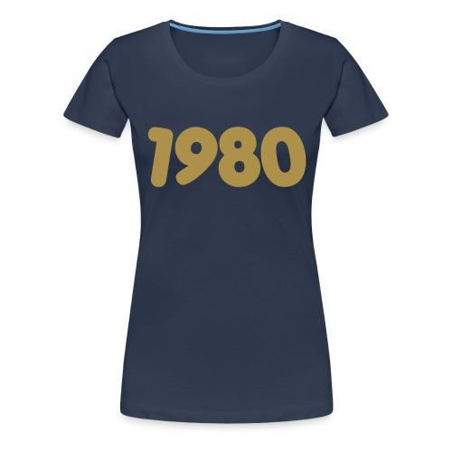 1980 - Maglietta Premium da donna
