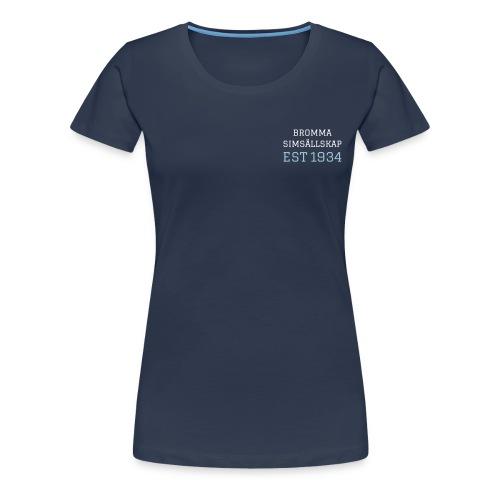 BSS text och logga - Premium-T-shirt dam