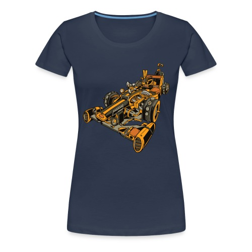 Auto de Carreras Steampunk - Camiseta premium mujer