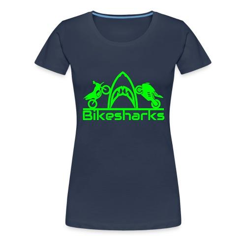 Bikesharkslogo Grün - Frauen Premium T-Shirt