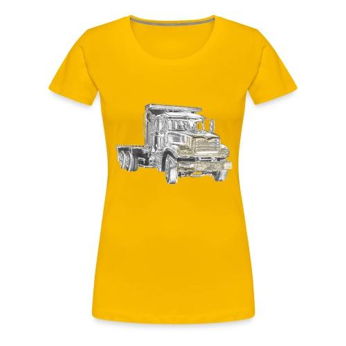 Flatbed Truck 3-axle - Women's Premium T-Shirt