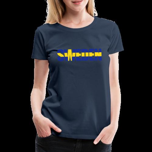 SWEDEN flaggtext - Premium-T-shirt dam