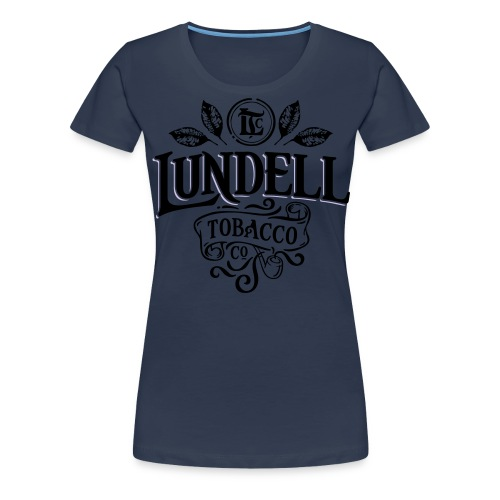 LUNDELL TOBACCO LOGO With Shadow - Premium-T-shirt dam