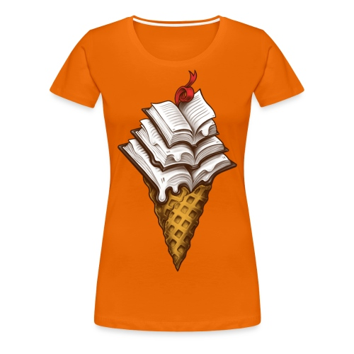 Ice Cream Books - Women's Premium T-Shirt