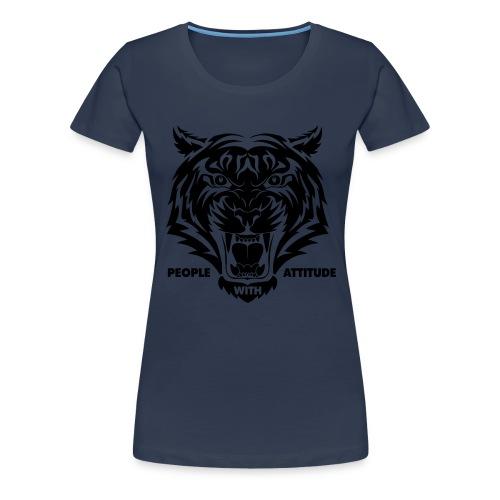 tijger-zwart - Vrouwen Premium T-shirt