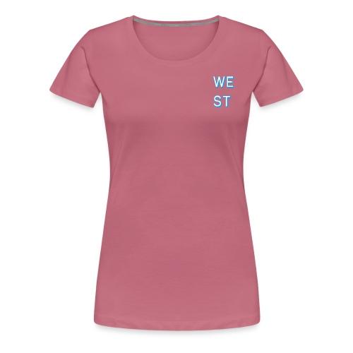 WEST LOGO - Maglietta Premium da donna