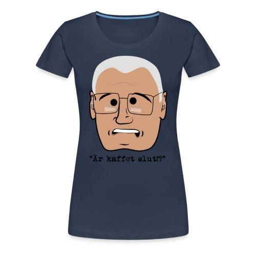 Lennart ar kaffet slut 3500x4600 png - Premium-T-shirt dam
