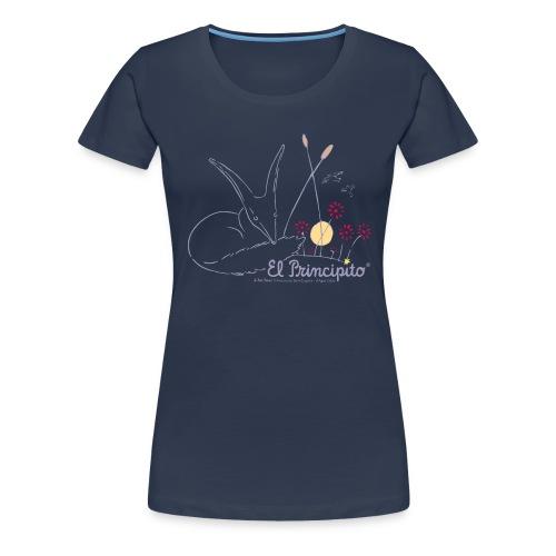 ES Der kleine Prinz Fuchs Line Art - Frauen Premium T-Shirt