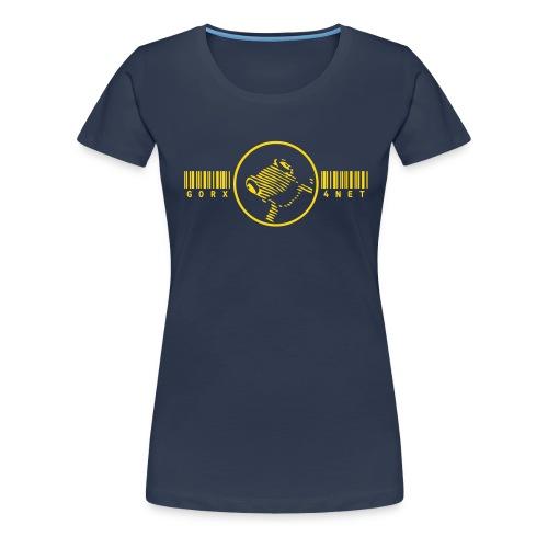 barcode frosch frog - Frauen Premium T-Shirt