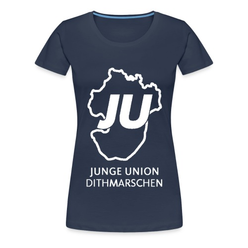 JU Umriss mit schriftzug gif - Frauen Premium T-Shirt