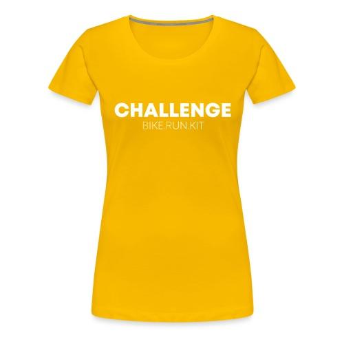 CHALLENGE LOGO WHITE - Women's Premium T-Shirt