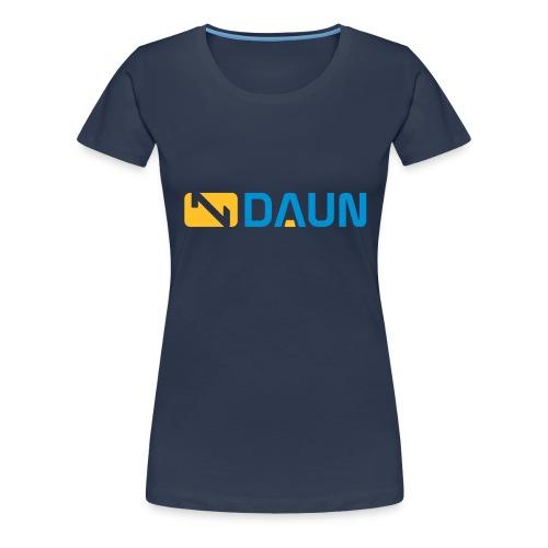 daun logo querkant - Frauen Premium T-Shirt