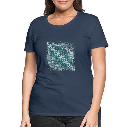 mosaico astratto verde acqua - Maglietta Premium da donna