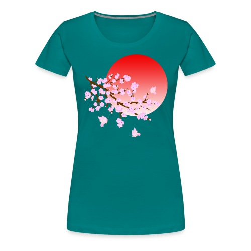 Cherry Blossom Festval Full Moon 3 - Frauen Premium T-Shirt
