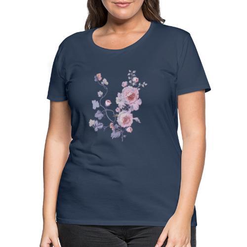 Schlichte Blumen - Frauen Premium T-Shirt