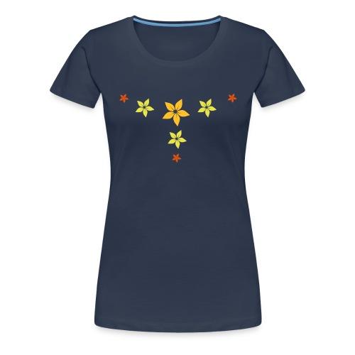 flower, star - Frauen Premium T-Shirt
